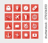 flat icons travels | Shutterstock .eps vector #270156353