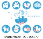 icon set with baby and toys   Shutterstock .eps vector #270156677