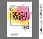 summer night beach party vector ... | Shutterstock .eps vector #270159767