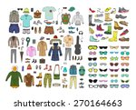 big hand drawn collection of... | Shutterstock .eps vector #270164663