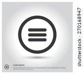 expand menu circle icon vector...