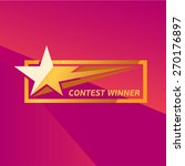 vector contest winner star... | Shutterstock .eps vector #270176897