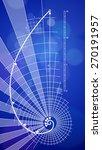 golden ratio blueprint   vector ... | Shutterstock .eps vector #270191957