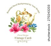 invitation vintage card with... | Shutterstock .eps vector #270243203