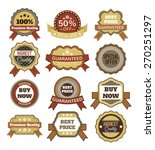 vector vintage badges  stickers ... | Shutterstock .eps vector #270251297