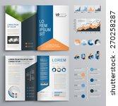 classic brochure template... | Shutterstock .eps vector #270258287