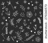 set of vintage floral hand... | Shutterstock .eps vector #270260573