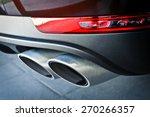 close up of a car dual exhaust... | Shutterstock . vector #270266357