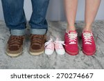 new parents with shoes and baby ... | Shutterstock . vector #270274667