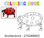 coloring ladybug | Shutterstock .eps vector #270288803