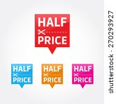 half price tags | Shutterstock .eps vector #270293927