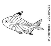 x ray tetra fish outline... | Shutterstock .eps vector #270304283