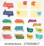 promotional badges and sale... | Shutterstock .eps vector #270304817