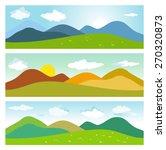summer mountains landscape. set ... | Shutterstock .eps vector #270320873