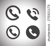 phone and call icon | Shutterstock .eps vector #270321173