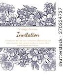 vintage flowers. romantic... | Shutterstock .eps vector #270324737
