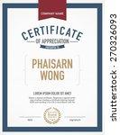 modern certificate template. | Shutterstock .eps vector #270326093