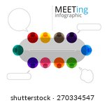 meeting of colorful people and... | Shutterstock .eps vector #270334547
