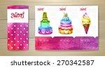 watercolor dessert concept... | Shutterstock .eps vector #270342587