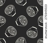 doodle noodle seamless pattern...   Shutterstock . vector #270345023