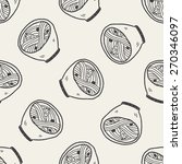 doodle noodle seamless pattern...   Shutterstock . vector #270346097