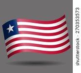 liberia waving flag | Shutterstock .eps vector #270353573