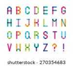 abstract color alphabet capital ... | Shutterstock .eps vector #270354683