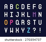 abc alphabet set | Shutterstock .eps vector #270354737
