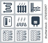 vector icon set of heating and...   Shutterstock .eps vector #270355097
