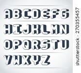 vector bold isometric font | Shutterstock .eps vector #270355457