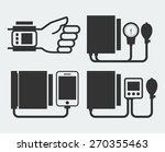 different tonometers silhouettes | Shutterstock .eps vector #270355463