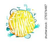 bright yellow bubble design... | Shutterstock . vector #270376487
