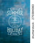summer holiday label logo on... | Shutterstock .eps vector #270384083