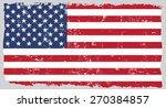 grunge usa flag.american flag... | Shutterstock .eps vector #270384857