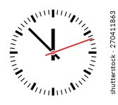 clock illustration | Shutterstock .eps vector #270411863