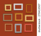 set of picture frames on red... | Shutterstock . vector #270413507