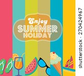 summer holidays illustration  ... | Shutterstock .eps vector #270424967