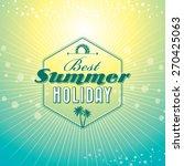 summer holidays illustration  ... | Shutterstock .eps vector #270425063