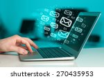 concept of sending e mails from ... | Shutterstock . vector #270435953