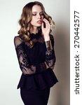 fashion studio photo of... | Shutterstock . vector #270442577