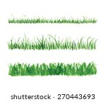 hand drawn watercolor grass set ...