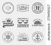 vector set of summer quotes ... | Shutterstock .eps vector #270450317