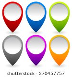 set of colorful map markers ... | Shutterstock .eps vector #270457757