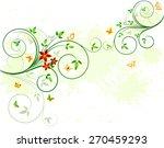 floral background design | Shutterstock . vector #270459293