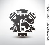 Car Engine Symbol  Stylized...