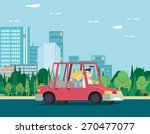summer day nature vacation... | Shutterstock .eps vector #270477077
