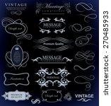 set of calligraphic elements... | Shutterstock .eps vector #270485933