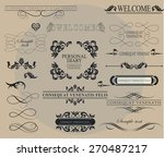 set of calligraphic elements... | Shutterstock .eps vector #270487217