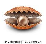 pearl in an open sea shell as a ...   Shutterstock . vector #270489527