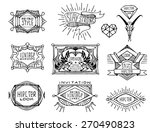 abstract  retro vintage design. ... | Shutterstock .eps vector #270490823
